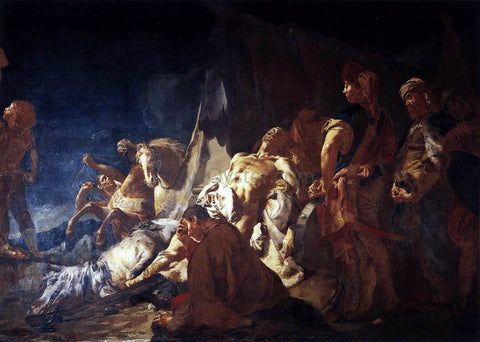 Giovanni Battista Piazzetta The Death of Darius - Hand Painted Oil Painting
