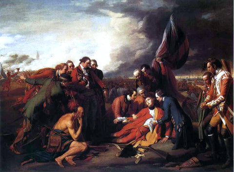 Benjamin West The Death of General Wolfe - Hand Painted Oil Painting