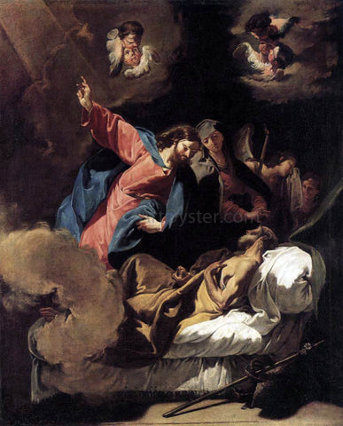 Giambattista Pittoni The Death of Joseph - Hand Painted Oil Painting