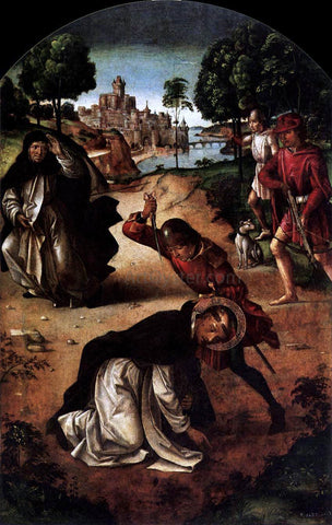 Pedro Berruguete The Death of Saint Peter Martyr - Hand Painted Oil Painting