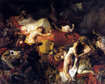 Eugene Delacroix The Death of Sardanapalus - Hand Painted Oil Painting