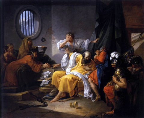 Jacques-Philip-Joseph De Saint-quentin The Death of Socrates - Hand Painted Oil Painting
