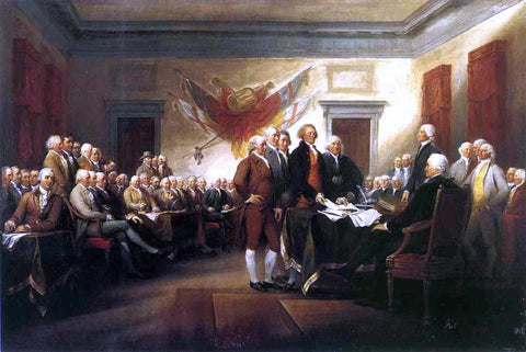 John Trumbull The Declaration of Independence - Hand Painted Oil Painting