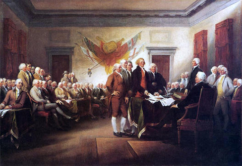 John Trumbull The Declaration of Independence, July 4, 1776 - Hand Painted Oil Painting