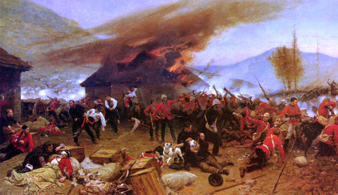 Alphonse De Neuville The Defence Of Rorke's Drift - Hand Painted Oil Painting