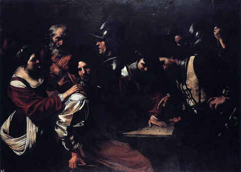 Bartolomeo Manfredi The Denial of St Peter - Hand Painted Oil Painting