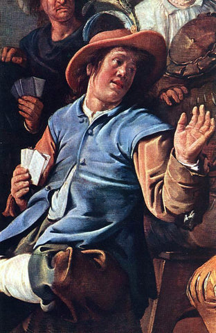 Jan Miense Molenaer The Denying of Peter (detail) - Hand Painted Oil Painting