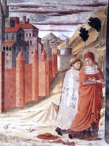 Benozzo Di Lese di Sandro Gozzoli The Departure of St Jerome from Antioch - Hand Painted Oil Painting