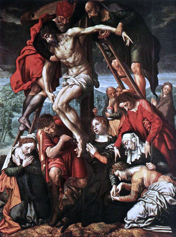 Jan Sanders Van Hemessen The Descent from the Cross - Hand Painted Oil Painting