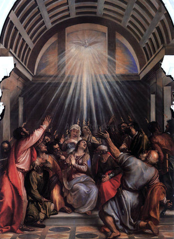 Titian The Descent of the Holy Ghost - Hand Painted Oil Painting