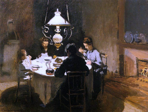 Claude Oscar Monet The Dinner - Hand Painted Oil Painting