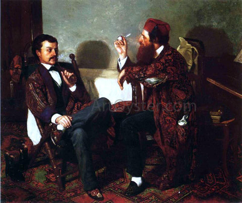 Thomas Hovenden The Discussion - Hand Painted Oil Painting