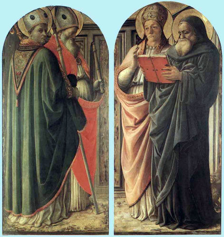 Fra Filippo Lippi The Doctors of the Church - Hand Painted Oil Painting