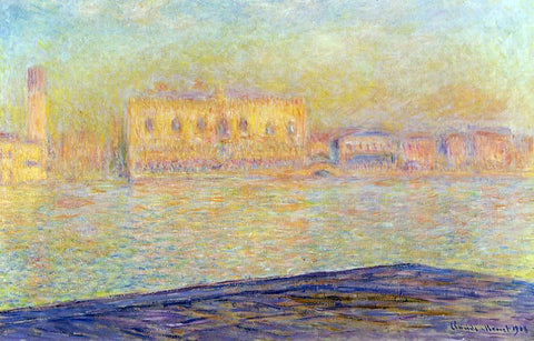 Claude Oscar Monet The Doges' Palace Seen from San Giorgio Maggiore (also known as San Giorgio) - Hand Painted Oil Painting