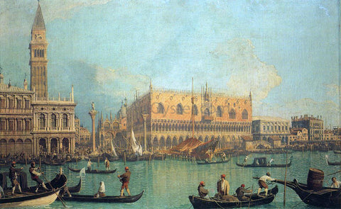 Canaletto The Doge's Palace with the Piazza di San Marco - Hand Painted Oil Painting