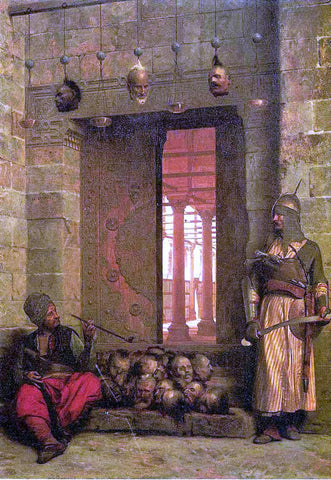 Jean-Leon Gerome The Door of the El-Hassanein Mosque in Cairo - Hand Painted Oil Painting