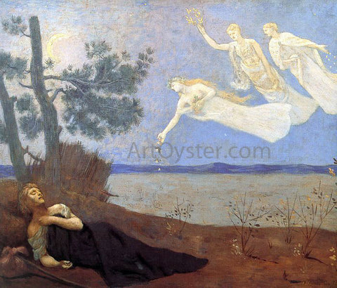 Pierre Puvis De Chavannes The Dream - Hand Painted Oil Painting