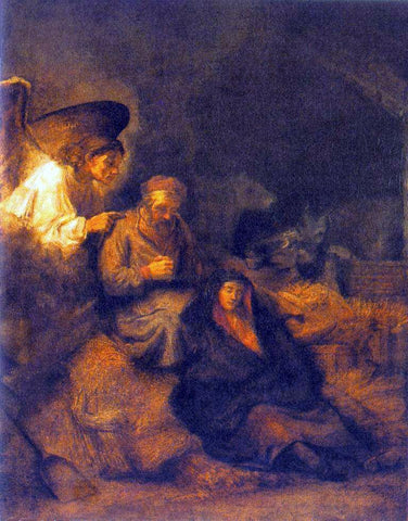 Rembrandt Van Rijn The Dream of St Joseph - Hand Painted Oil Painting