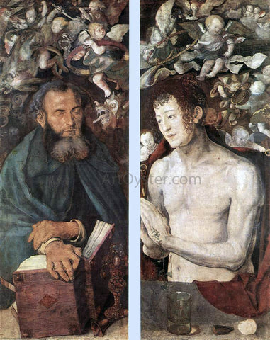 Albrecht Durer The Dresden Altarpiece (side wings) - Hand Painted Oil Painting