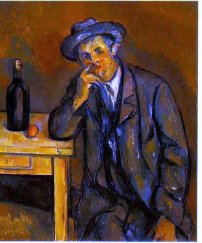 Paul Cezanne The Drinker - Hand Painted Oil Painting
