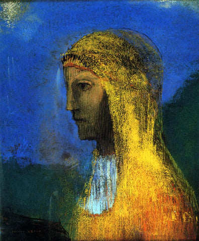 Odilon Redon The Druidess - Hand Painted Oil Painting