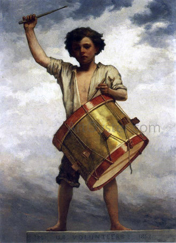 William Morris Hunt A Drummer Boy - Hand Painted Oil Painting