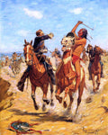 Charles Schreyvogel The Duel - Hand Painted Oil Painting