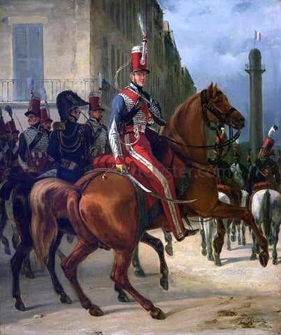 Horace Vernet The Duke of Chartres on Horseback - Hand Painted Oil Painting