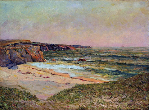 Maxime Maufra The Dunes of Port Blanc near Ile de Quiberon - Hand Painted Oil Painting
