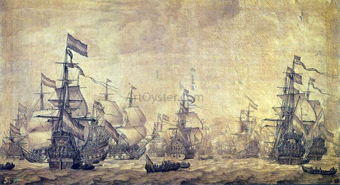 The Elder Willem Van de  Velde The Dutch Navy Sailing - Hand Painted Oil Painting