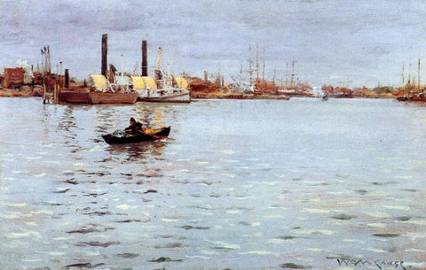 William Merritt Chase The East River - Hand Painted Oil Painting