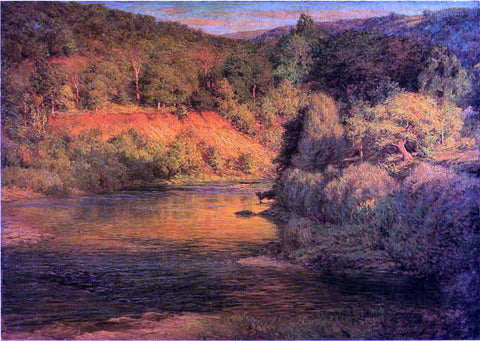 John Ottis Adams The Ebb of Day (also known as The Bank) - Hand Painted Oil Painting
