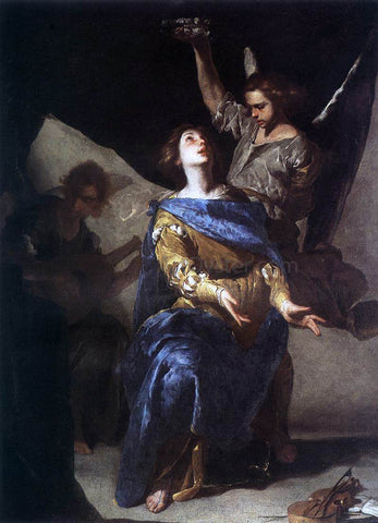 Bernardo Cavallino The Ecstasy of St Cecilia - Hand Painted Oil Painting