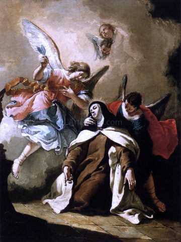 Francesco Fontebasso The Ecstasy of St Therese - Hand Painted Oil Painting
