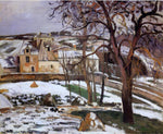 Camille Pissarro The Effect of Snow at l'Hermitage, Pontoise - Hand Painted Oil Painting