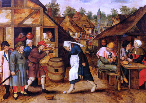 The Younger Pieter Bruegel The Egg Dance - Hand Painted Oil Painting