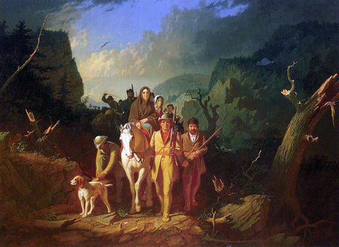 George Caleb Bingham The Emigration of Daniel Boone - Hand Painted Oil Painting