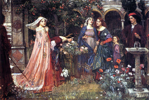 John William Waterhouse The Enchanted Garden - Hand Painted Oil Painting