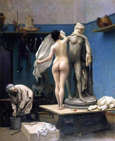 Jean-Leon Gerome The End of the Sitting - Hand Painted Oil Painting