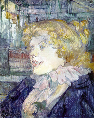 Henri De Toulouse-Lautrec The English Girl from the 'Star', Le Havre - Hand Painted Oil Painting