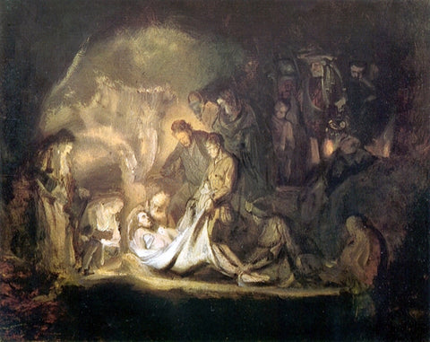 Rembrandt Van Rijn The Entombment - Hand Painted Oil Painting