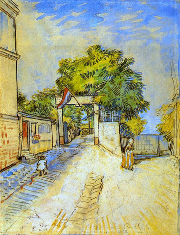 Vincent Van Gogh The Entrance of a Belvedere - Hand Painted Oil Painting