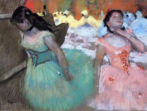 Edgar Degas The Entrance of the Masked Dancers - Hand Painted Oil Painting
