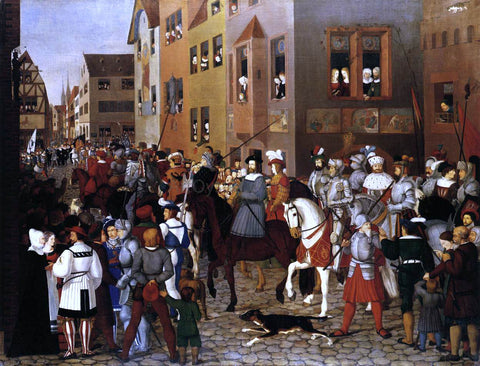 Franz Pforr The Entry of Emperor Rudolf of Habsburg into Basle - Hand Painted Oil Painting