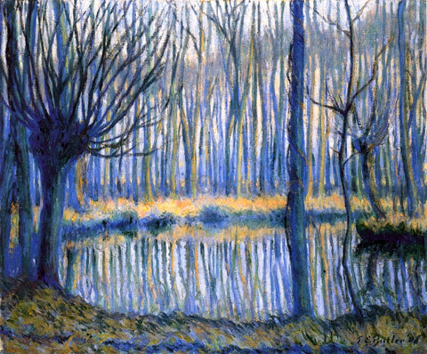 Theodore Earl Butler The Epte, Giverny - Hand Painted Oil Painting