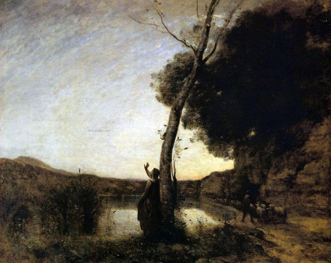 Jean-Baptiste-Camille Corot The Evening Star - Hand Painted Oil Painting