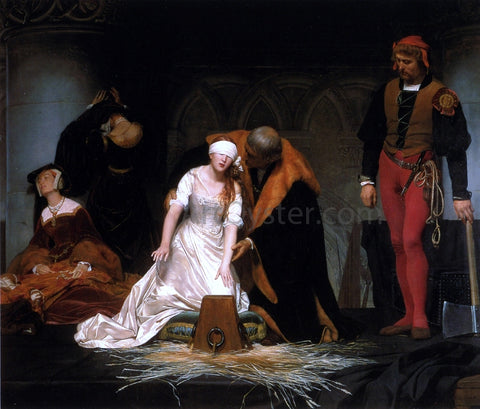 Paul Delaroche The Execution of Lady Jane Gray - Hand Painted Oil Painting