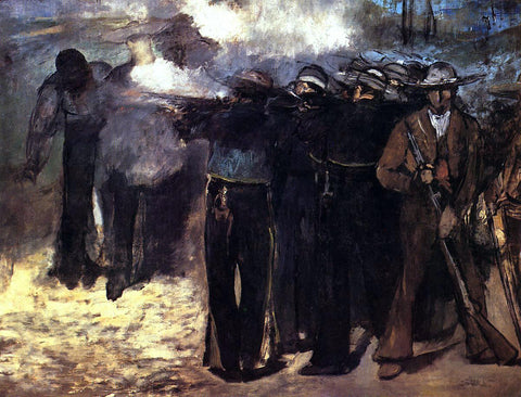 Edouard Manet The Execution of the Emperor Maximilian - Hand Painted Oil Painting