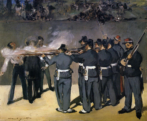 Edouard Manet The Execution of the Emperor Maximillian - Hand Painted Oil Painting