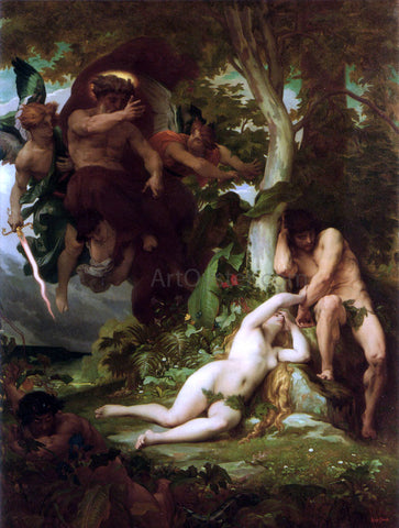Alexandre Cabanel The Expulsion of Adam and Eve from the Garden of Paradise - Hand Painted Oil Painting